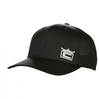 Crown Trucker Snapback Cap - Black