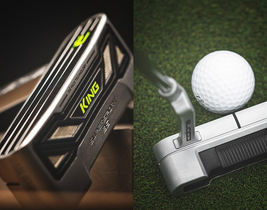 Cobra 3D printed putter at address